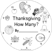 thanksgiving math worksheets enchantedlearning