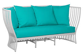 One Kings Lane Sofa by Napa Outdoor 73 U0027 Loveseat Aqua Exclusive To One Kings Lane By