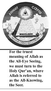 allah the all eye seeing from the heavens above to the earth below