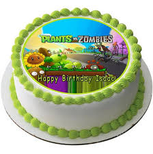 Plants Vs Zombies Cake Decorations Plants Vs Zombie 2 Edible Birthday Cake Or Cupcake Topper U2013 Edible