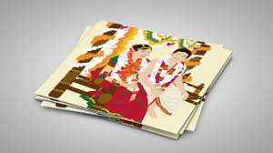 unique indian wedding cards illustrated wedding invitations unique wedding invitations cool