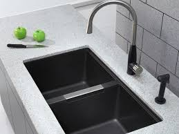kitchen sinks and faucets designs faucet design interior grey concrete undermount double trough