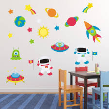 astronauts in space wall sticker by mirrorin notonthehighstreet com astronauts in space wall sticker