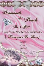 diamonds and pearls baby shower kosmickreationsllc cards and invitations