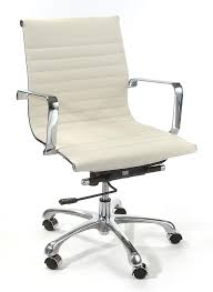 full size of chair white leather desk with silver metal wheels furniture elegant âž comfortable