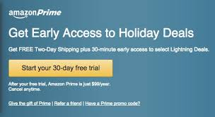 when to be on the lookout for black friday tvs from amazon how to get amazon prime for free during the holidays