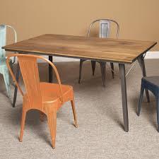 Metal Dining Room Furniture Wood U0026 Metal Rectangular Dining Table By Largo Wolf And Gardiner