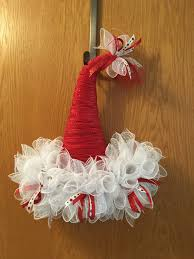 change a dollar tree witch hat to a christmas hat wreath crafts