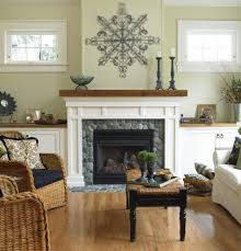 cottage fireplace living room traditional with wood beams
