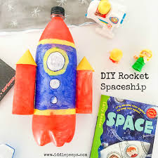 diy rocket spaceship iddle peeps