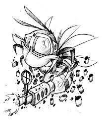 tattoo gun sketch machine gun sting by jjnomann on deviantart