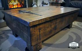 wood plank coffee table architectures rachpower com