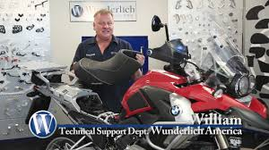 Most Comfortable Motorcycle Seat Wunderlich Ergo Active Comfort Seats Youtube