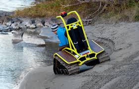 Power Chair With Tracks Ziesel Off Road Wheelchair Conquers All Weather And Terrain