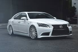 lexus sedan white vossen vfs2 wheels silver with polished face rims