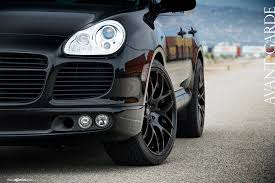 porsche cayenne black wheels porsche cayenne on 22 avant garde rugermesh black wheels