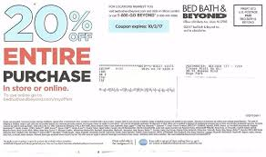 Bed Bath N Beyond Coupon Bed Bath And Beyond Coupon For 20 Off Entire Purchase In Store