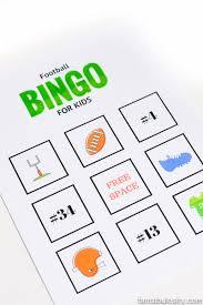 thanksgiving bingo free football bingo for kids free printable fantabulosity