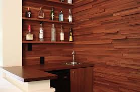handmade stacked wood wet bar by hefner woodworking sorkin