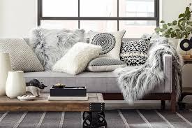 plaid gris pour canapé 1001 designs magiques pour créer un salon cocooning decoration