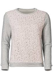 sweater with sweater with lace front