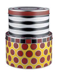 boite metal cuisine boîte circus set de 2 métal 2 boîtes multicolores alessi