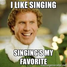 buddy the elf singing is my favorite meme google search music