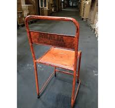 chaise en chaise en métal vintage originale