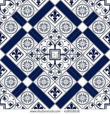 vector moroccan tile seamless pattern design stock vector