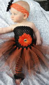 Monster Baby Halloween Costume Baby Infant Halloween Costume Crochet Black Orange Dress