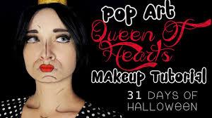 pop art queen of hearts makeup tutorial l 31 days of halloween