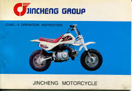 jincheng motorcycle jc50q 9 operation instruction manual
