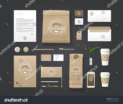 corporate identity template business set coffee stock vector