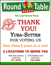 round table pizza marysville ca the appeal democrat business directory coupons restaurants