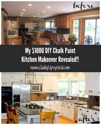 Upcycled Kitchen Ideas by Orange Be Gone My 1000 Diy Chalk Paint Kitchen Makeover Reveal
