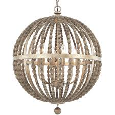 Chandelier Lamp Shades With Beads Wooden Bead Globe Chandelier 4 Light Shades Of Light