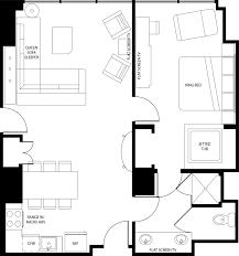 100 mgm signature 2 bedroom suite floor plan two bedroom