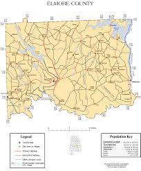 Alabama Maps Elmore County Alabama History Adah