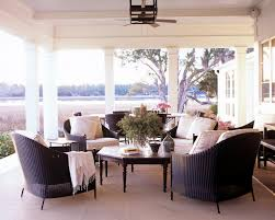 Rattan Patio Furniture Sets by Patio Backporch Sitting Area With Black Rattan Patio Furniture