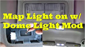 tutorial map light on with dome light mod diycarmodz youtube