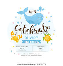 invitation greeting card template baby shower stock vector