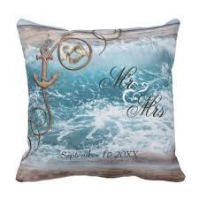 wedding pillows nautical wedding pillows decorative throw pillows zazzle
