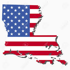 Maps Of Louisiana by Map Of The State Of Louisiana And American Flag Illustration Stock