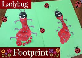 ladybug footprint u2013 juggling with kids
