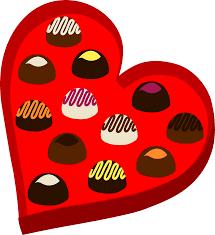 heart shaped box of valentines chocolates free clip art