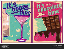vintage cocktail party illustration chocolate cocktail posters vintage vector u0026 photo bigstock