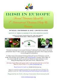 irish in europe annual christmas lunch u0026 3rd international