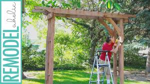 wedding arch plans free how to build a wood arbor for garden yard or wedding diy arbor
