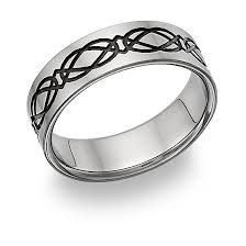 celtic knot wedding bands black titanium celtic knot wedding band ring