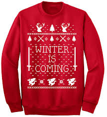 ym wear winter is coming ugly christmas sweater crewneck at